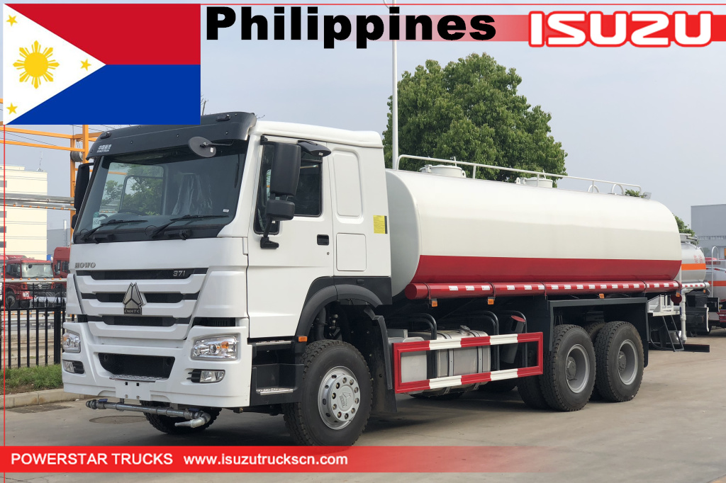 philippines- 1unit من 20cbm howo water bowser